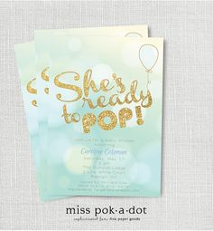 32 best ready to pop baby shower ideas images on pinterest baby shes ready to pop baby shower invitation printable boy shower invite blue and gold chic its a boy blue balloon filmwisefo