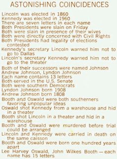 lincoln and kennedy assassination similarities