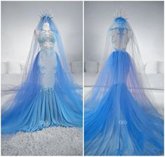 Pretty Prom Dresses, Cute Dresses, Beautiful Dresses, Wedding Dresses, Fantasy Gowns, Fantasy Hair, Fantasy Makeup, Fairy Dress, Ice Queen