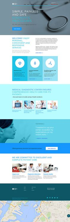Medical website inspirations at your coffee break? Browse for more Responsive…