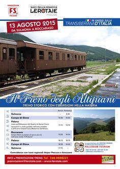 Nella settimana di Ferragosto, a grande richiesta, treno straordinario infrasettimanale da Sulmona a Roccaraso sulla #transiberianaditalia.  info 3400906221 o prenotazioni@lerotaie.com