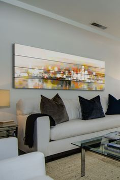 A classic painting, print or canvas can make an excellent feature for any room. LIKE!