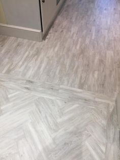 Installing Amtico Herringbone Wood Pattern to Premises: 3d Flooring, Floors, Amtico, Bathroom Design Inspiration, Entry Foyer, Wood Patterns, Grey Wood, Herringbone, Tile Floor