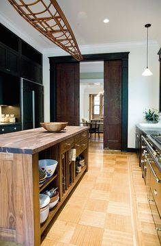 Brooklyn Brownstone, Industrial Style Kitchen