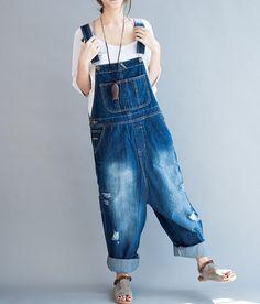 Fabrics; Cotton Color; Blue Size Waist 100cm / 39 Thigh 73cm / 28 Calf circumference 52cm / 20 Pants long 122cm / 48 Have any questions please
