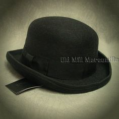 Old West sass Charcoal bowler derby hat 100% wool felt quality hat M-XL d4b8e49f9f8a