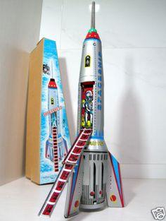 Tin Toy SkyExpress Rocket