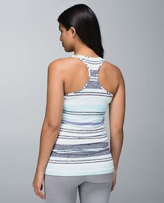 4494bd4ff03ccb Lululemon Cool Racerback- love the multi- stripe in these colors Lululemon  Athletica