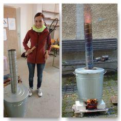 Ofenbaukurs in Höhr-Grenzhause (Oktober 2012): Bau eines Raku-Ofens aus einer IKEA-Mülltonne