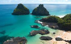 The Porcos Bay is the most charming beach of Fernando de Noronha - Brazil.