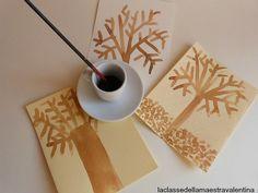 Care maestre oggi vi mostro come si può realizzare un albero utilizzando del fondo di caffè. Il colore lo trovo meraviglioso e questo è... Kids Crafts, Winter Crafts For Kids, Diy For Kids, Arts And Crafts, Reggio Children, Art Projects, Projects To Try, Emoji Images, Fall Preschool