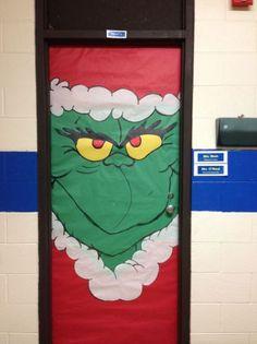 Dr. Suess's Grinch classroom door