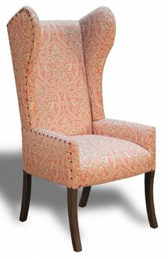pink damask chair