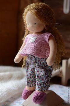 Купить Лизонька, 40см. - сиреневый, вальдорфская кукла, вальдорфская игрушка, кукла для девочки, кукла для ребенка