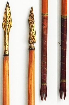 Ottoman arrows, wood gold, ivory, iron, feather, silk, L. 26 3/4 in. (67.9 cm), Met Museum.