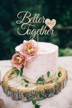 Better Together Cake Topper Wedding Cake Topper by BestWeddEver