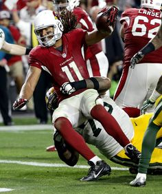 Arizona Cardinals wide receiver Larry Fitzgerald (11) scores the game winning…