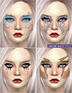 Jennisims: Downloads sims 4:Makeup So Soft Fantasy Fairies EyeShadow Male /Female (Alien/Humans)