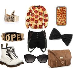 """""""hope you like the pizza cat ;)"""" by beoriginal1729 on Polyvore"""