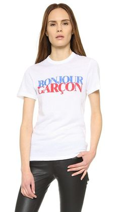 CHRLDR Bonjour Garcon Tee Better In French, Cool Tees, Neck T Shirt, V Neck, Crew Neck, Your Style, Shirts, Fashion Design, Shopping