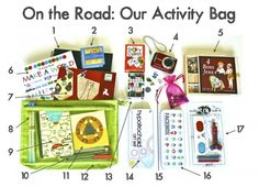Activity bag fillers for summer vacation.