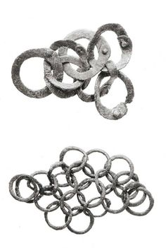 9-10th century Mostjevaja Balka. Chain mail fragments.
