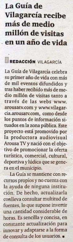 GUÍA DE VILAGARCÍA, 1 AÑO, 1.000 EVENTOS, 500.000 CONSULTAS | ArousaTV