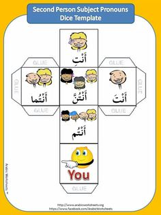 "Meanings of ""You"" in Arabic. For more worksheets please visit: Http:// www.facebook.com / ArabicWorksheets"