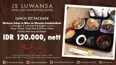 Set Lunch Package only IDR 120.000nett at Kamiya Japanese Restaurant #jsluwansa #promotion #kamiya #food