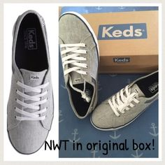 """HPNWT Keds Women's Coursa  Same day shipping (excluding Sun/holidays or orders placed after P.O. Closed)  10% off of 2+ bundles  ❓Please ask any questions prior to buying. I want you to be % Happy❣  HP """"Casual Friday"""" 5/20. These sneakers are fabulous! I purchased them in an 8.5 and a 9 because I was unsure which would fit me best. I am keeping the 8.5. These fit like a true size 9. Canvas material is comfy and cute. Brand-new in box. Navy and white stripes. Smoke/pet free home. keds Shoes…"""