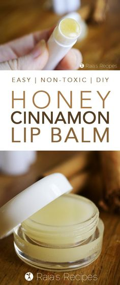 This DIY Honey & Cinnamon Lip Balm makes an easy, healthy alternative to store-bought lip balms. With only a few, non-toxic, ingredients, you'll be surprised at how easy it is to whip up. This lip balm is a great natural remedy for chapped lips! Homemade Lip Balm, Diy Lip Balm, Homemade Skin Care, Homemade Beauty Products, Natural Products, Best Lip Balm, Natural Foods, Homemade Recipe, Diy Products