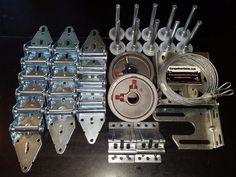 Other Garage Door Equipment 180973: Garage Door Hardware Complete Kit - Medium Duty 14 Ga - 16X7 Or 18X7 -> BUY IT NOW ONLY: $54.99 on eBay!