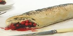 Poppyseed Cranberry Strudel