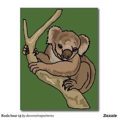 Koala bear 13 postcard