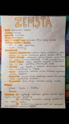 New School Year, Back To School, High School, Polish Language, Study Organization, Eighth Grade, School Subjects, Good Notes, School Notes