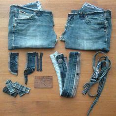 wat kun je allemaal maken van een oude spijkerbroek Tassen maken!