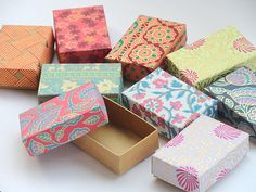 100 assorted print Gift boxes Packaging by indianbazzaar on Etsy