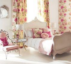 dormitorio vintage flores