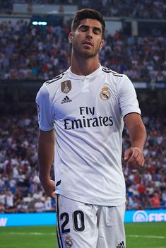 MADRID, SPAIN - SEPTEMBER Marco Asensio of Real Madrid reacts during the La Liga match between Real Madrid CF and Club Atletico de Madrid at Estadio Santiago Bernabeu on September 2018 in Madrid, Spain. (Photo by Quality Sport Images/Getty Images) Soccer Guys, Soccer Players, Nike Soccer, Soccer Cleats, Fifa, Adidas, Real Madrid Manchester United, Cristiano Ronaldo Lionel Messi, Ronaldo Soccer