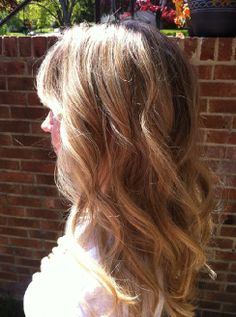 Long with light waves cut with pretty bangs I COULD SPEND HOURS ON THIS WEBSITE!