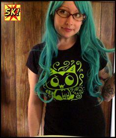 Baby Fang the Vampire Kitten Womens shirt by sohokitten