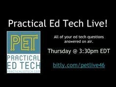 Earlier today I hosted the fifth episode of Practical Ed Tech Live. Thank you to all who submitted questions in advance to those who joined in during the live broadcast. I'll be hosting another episode next week at 3:30pm EDT on Thursday May 18th. If you missed today's episode the recording is embedded below. The text of the questions that I answered are copied below the embedded below.Questions answered in the show: Whats your email address? Ive been following you for a while. I watched for…