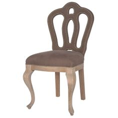 "Jillian Dining Chair  100% Linen  20"" W x 22"" D x 37"" H  Finish/Color(s): Linen Mocha/Drifted Oak"