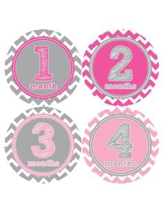 Baby Month Sticker Monthly Stickers Baby by MonthsinMotion on Etsy