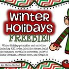 Merry Christmas and Happy Holidays!   I hope you and your students enjoy this FREE holiday activity set!  Just a little something to say THANK YOU!...