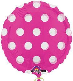 Pink Dots Mylar Balloon