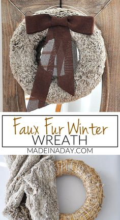 Rich Brown Faux Fur Wreath | Made in a Day