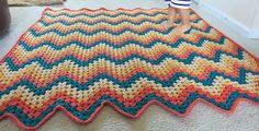 Rainbow Blanket pattern by Bernat Design Studio