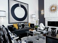 What Black White And Gold Living Room Design Is - and What it Is Not - myria. What Black White And Gold Living Room Design Is – and What it Is Not – myriadinspira Black And Gold Living Room, Living Room White, Living Room Sofa, Living Room Interior, Living Spaces, Living Rooms, White Bedroom, Living Area, Black Sofa Living Room Decor