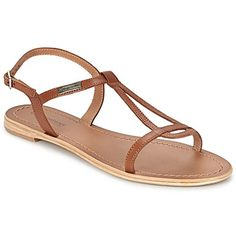 LES TROPEZIENNES Hamess Tan Leather Sandals (45 euros)